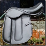 Dressage English Saddle Genuine Cow Leather black