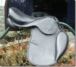 All Purpose English Saddle Narrow Black Leather /></a></td>