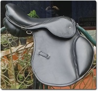 All Purpose English Saddle Wide-Black Leather /></a></td>