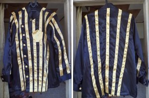 jockey costumes Yellow Stripped Black