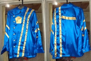 jockey costumes = Yellow Stripped Bluer