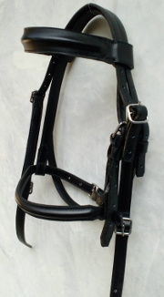 Head briddle Leather Black