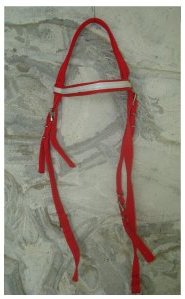 Head Stall Nylon RED