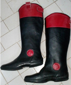 Race Boot genuine leather Red