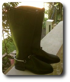 Man Riding Boot