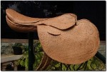 Train Saddle Bahan Kulit Sapi warna NABATI